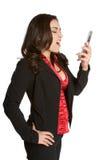 Griterío de la mujer del teléfono Fotografía de archivo libre de regalías