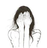 Griterío de la mujer triste libre illustration