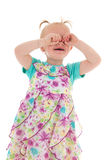 Griterío de la niña pequeña fotografía de archivo libre de regalías