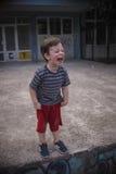 Griterío del muchacho Foto de archivo libre de regalías