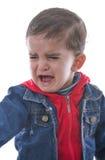 Griterío del pequeño niño Fotos de archivo libres de regalías