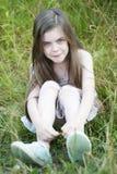Griterío infeliz de la niña Imagen de archivo