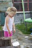 Griterío de la niña Fotos de archivo libres de regalías