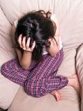 Grito adolescente fêmea Fotos de Stock