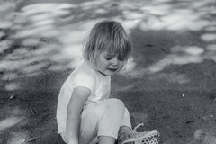 Grito da criança Fotos de Stock Royalty Free