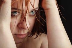 Grito da menina da beleza Imagem de Stock Royalty Free