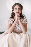 Grito da noiva Fotografia de Stock