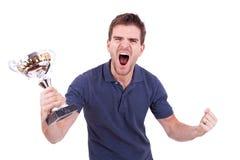 Grito da vitória Imagens de Stock Royalty Free