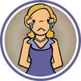 Grito de la mujer de las sensaciones y triste Fotografía de archivo libre de regalías