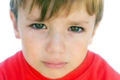 Grito de Little Boy Fotos de Stock
