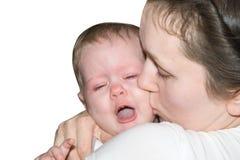 Grito del bebé Fotografía de archivo