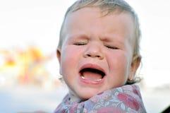 Grito del bebé Fotos de archivo libres de regalías