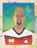 Grito del fanático del fútbol de Alemania Imagen de archivo libre de regalías