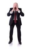 Grito del hombre de negocios Imagen de archivo libre de regalías