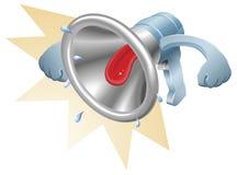 Grito del loudhailer del megáfono del megáfono libre illustration