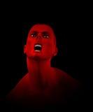 Grito del zombi Foto de archivo libre de regalías