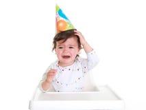 Grito do bebê fotografia de stock royalty free