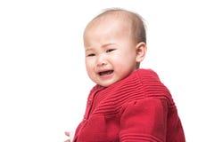 Grito do bebê de Ásia fotografia de stock