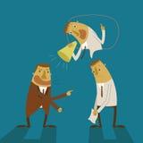 Grito do homem de negócios do pensamento ilustração do vetor