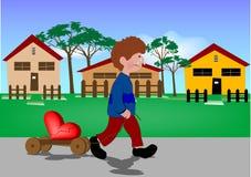 Grito do rapaz pequeno Imagem de Stock Royalty Free