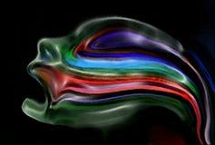 Grito en silencio negro. ilustración del vector