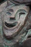 Grito feliz de bronze da máscara do teatro Fotografia de Stock Royalty Free