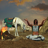 Grito indio para la lluvia Imagen de archivo libre de regalías