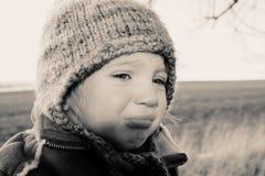 Grito infeliz da criança Imagem de Stock