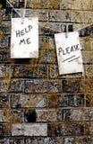 Grito para la ayuda Foto de archivo libre de regalías