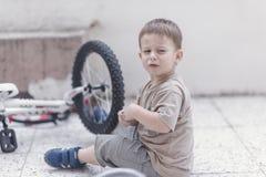 Grito pequeno da criança Fotografia de Stock