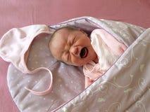 Grito recém-nascido Fotos de Stock Royalty Free