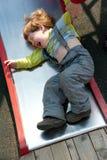 Grito teimoso do menino impertinente Fotografia de Stock