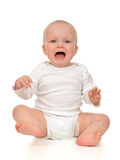 Grito triste da criança infantil pequena do bebê da criança Foto de Stock Royalty Free