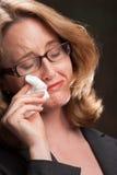 Grito Weeping da mulher Imagem de Stock Royalty Free