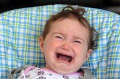 Grito y grito del bebé Fotografía de archivo libre de regalías