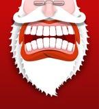 Gritos agresivos de Santa Claus Santa infeliz Imagen de archivo libre de regalías
