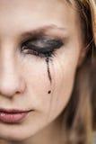 Gritos da mulher, close-up fotos de stock