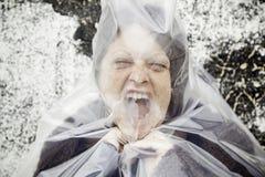 Gritos de la mujer atrapados Foto de archivo libre de regalías