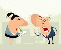 Gritos do chefe ao secretário Imagem de Stock Royalty Free