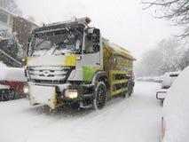 gritter śnieg zdjęcia stock