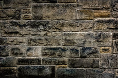 Gritty Brick Stone Wall Stock Photography
