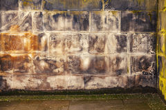 Gritty stonework wall. Image of gritty, dirty stone wall Stock Photos