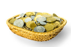 Grivna Coins in a Basket Royalty Free Stock Image