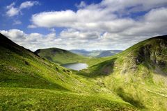 Grizedale Tarn. From Coffa Pike Royalty Free Stock Photos