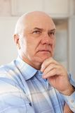 Grizzled elderly man Royalty Free Stock Image