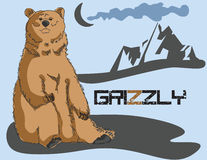 Grizzly bear background Royalty Free Stock Photo