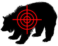 Grizzly bear crosshair Royalty Free Stock Image