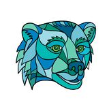 Grizzly Bear Head Mosaic vector illustration