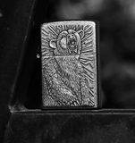 Grizzly Bear Lighter. Engraved Lighter with Grizzly Bear Motive Royalty Free Stock Photos