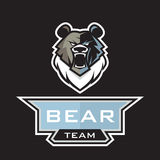 Grizzly bear logo Royalty Free Stock Image